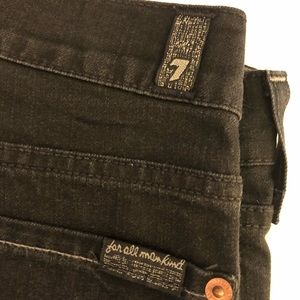EUC 7 for All Mankind Black Denim Jeans 32 Long